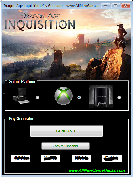 Get A Free And Working Serial Key Using Our Dragon Age Inquisition Key Generator This Key Generator Works On All Pc Xbox And Playstation Devices
