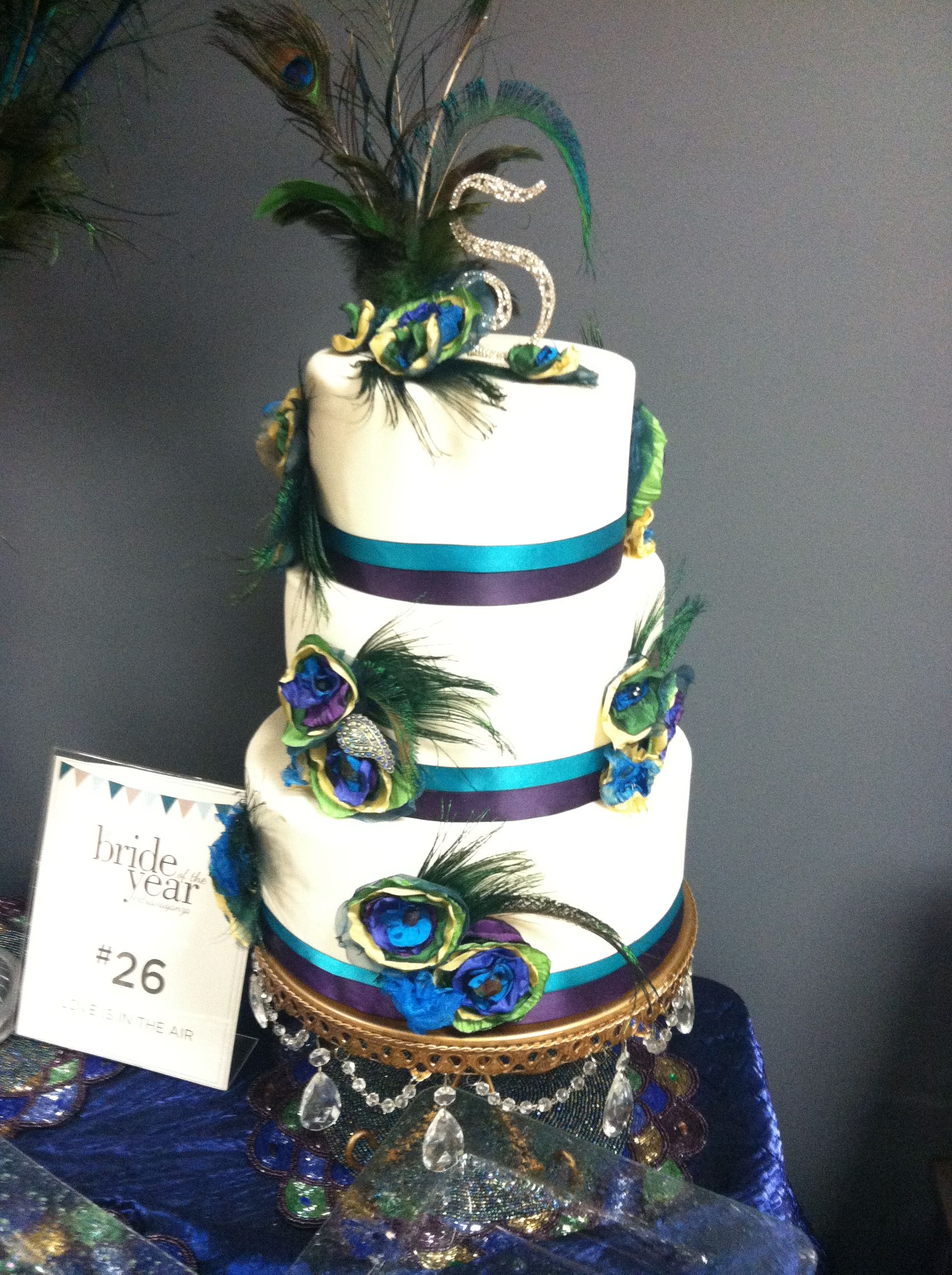 Peacock theme Cake | all the things everyone else is doing ... Quinceanera Peacock Cake