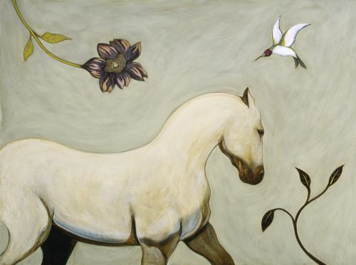 White Horse by Phyllis Stapler