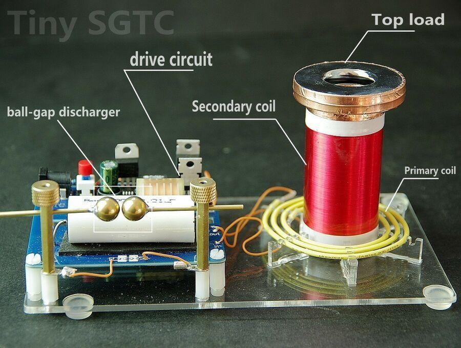 Tiny tesla coil DIY Kits SGTC BALL-GAP Discharger spark gap