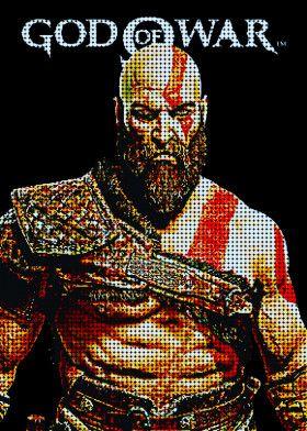 Pixels Kratos   Displate thumbnail
