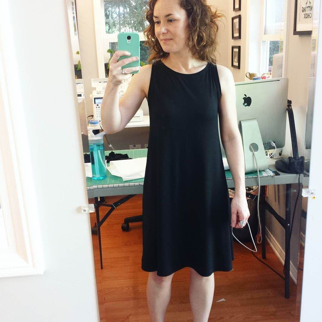 Was inspired to try making a trapeze dress by @knitnbee . I used #mccalls6559 as my starting point.  I love how it turned out! by marrieb