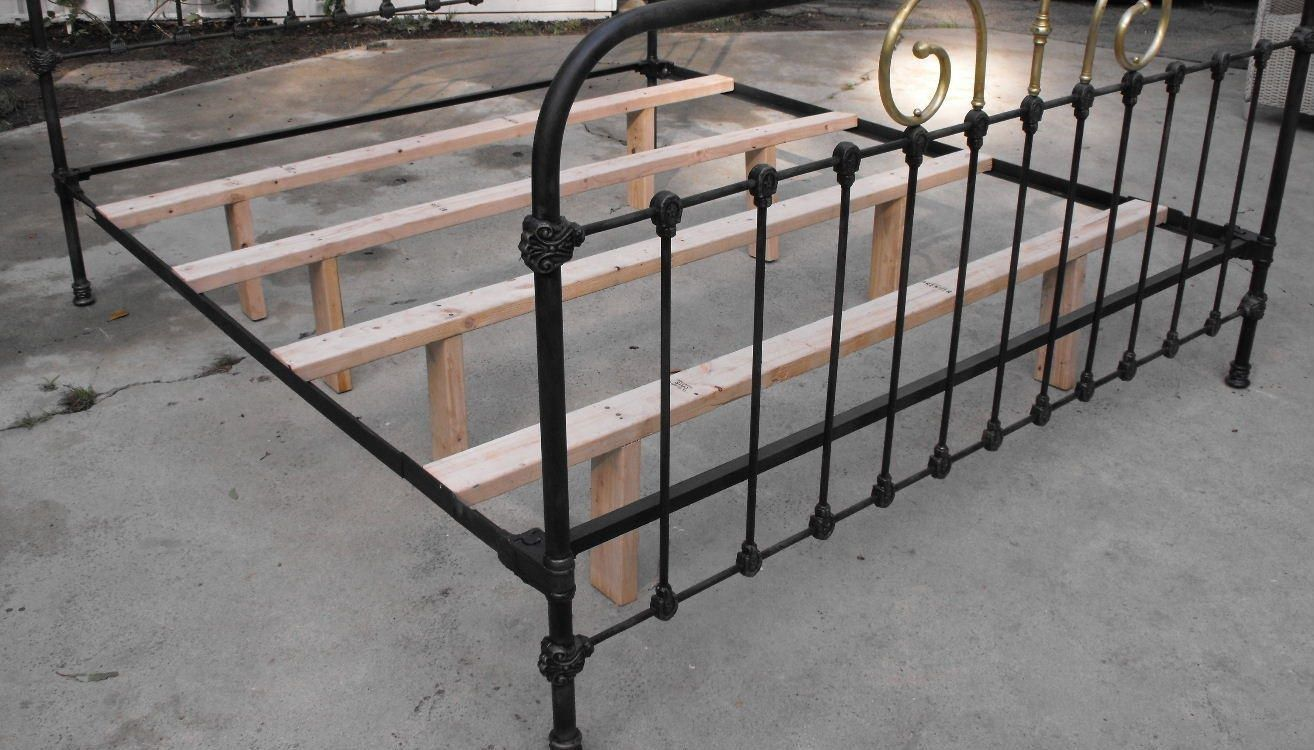 Vintage Bed Iron Bed Frame Iron Bed Antique Iron Beds