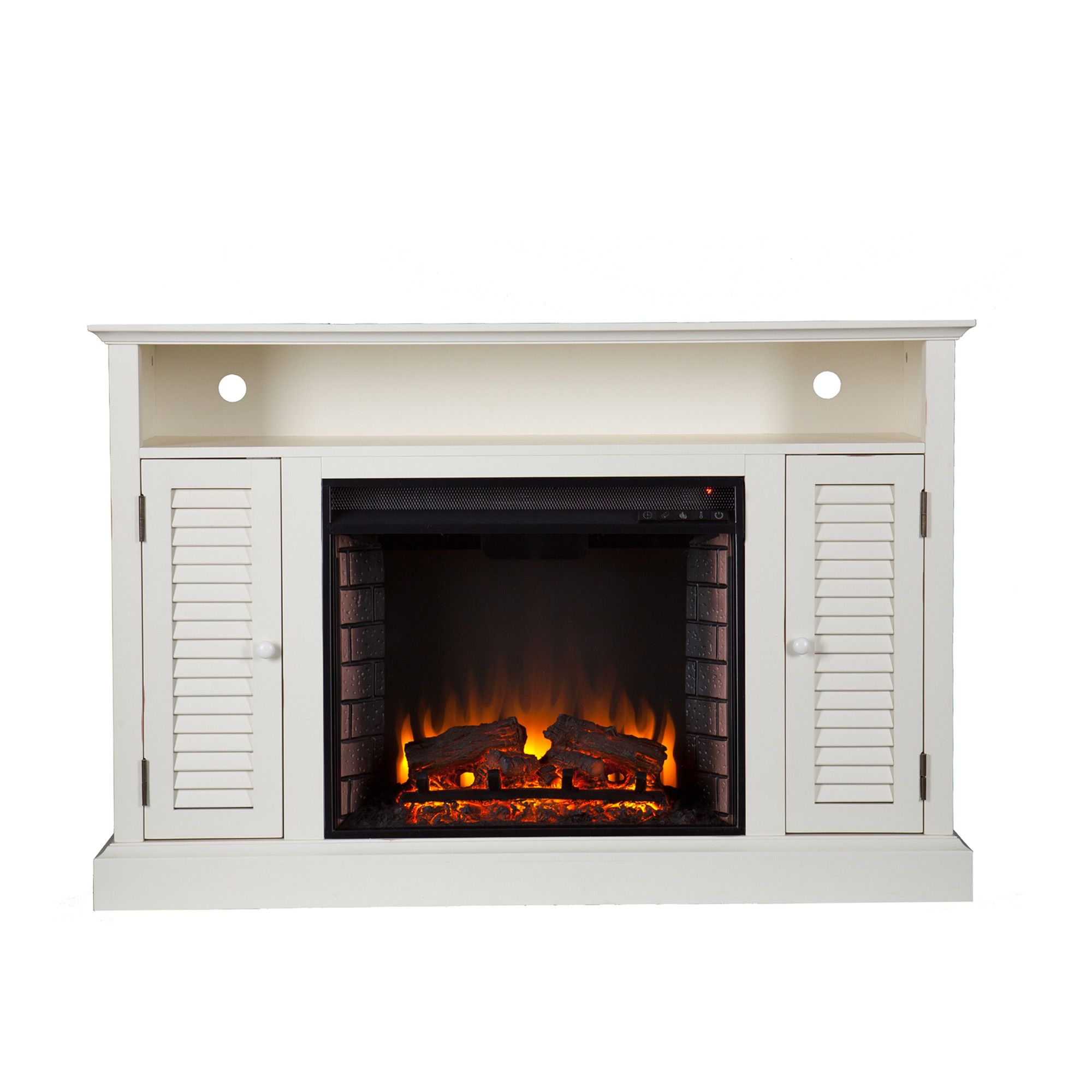 hokku designs tv stand with electric fireplace reviews wayfair