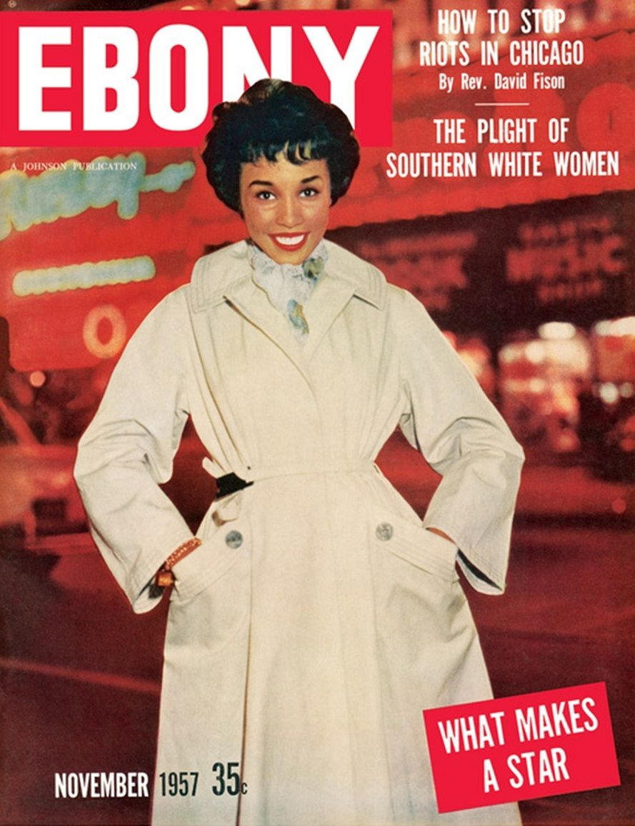 DIAHANN CARROLL| EBONY MAGAZINE NOVEMBER,1957 COVER