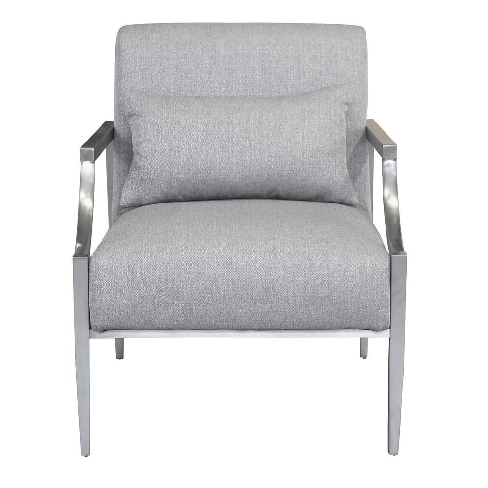 Essence Contemporary Grey Fabric Upholstered Accent Chair