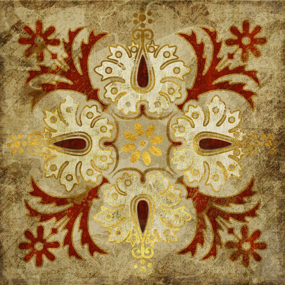 India-gold-retro-ethnic-patterns-canvas-wall-art-home-decoration ...