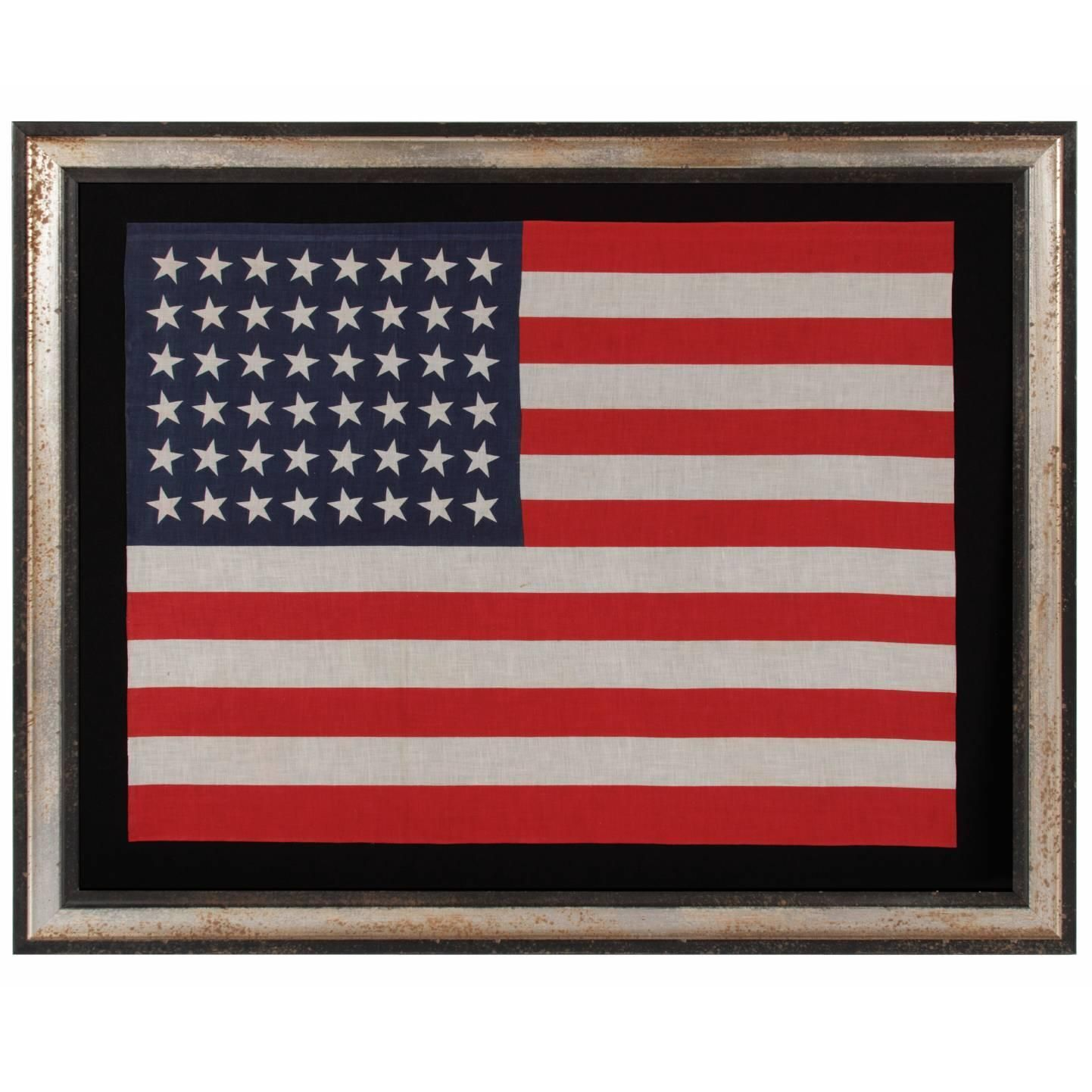 48 Star Large Scale Parade American Flag Vintage American Flag Flag Painting Flag