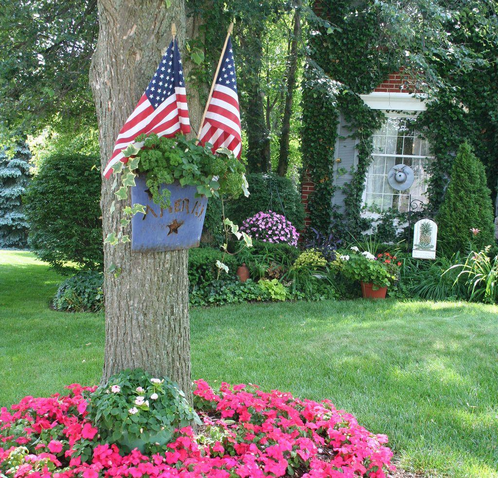America Garden art, Garden projects, Flower garden