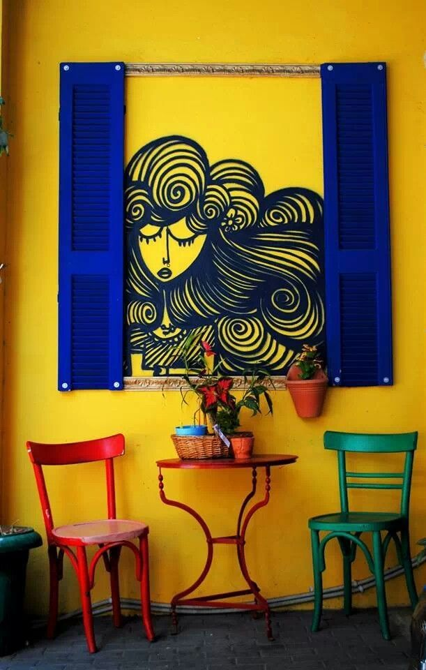 coffee shop in greece an innovative take at an age old tradition - Blue Cafe Decorating