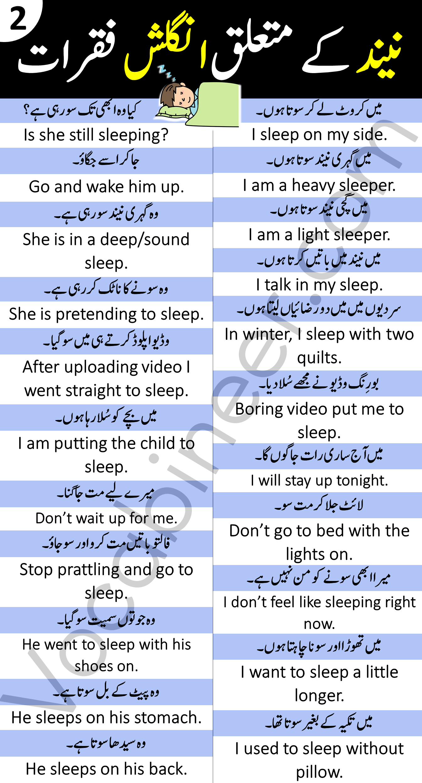 Daily Use English Sentences with Urdu and Hindi Tr