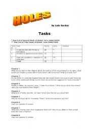 Holes by Louis Sachar (Worksheets and Activities)