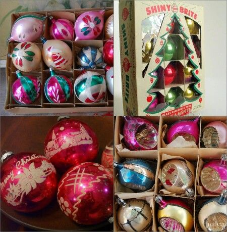 60s and 70s christmas ornaments