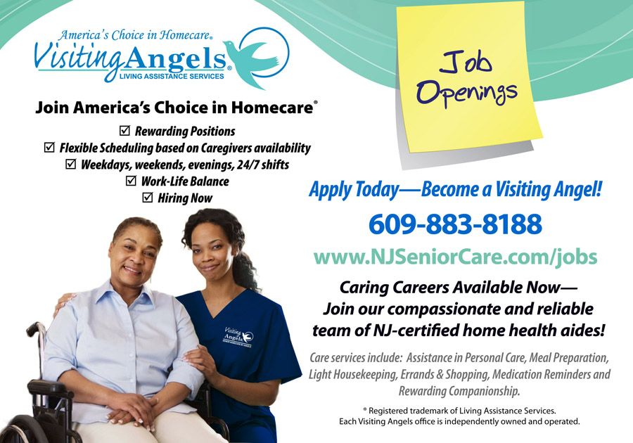 Burlington Mercer County Nj Home Health Aide Jobs Available With Home Health Aide Visiting Angels Home Health