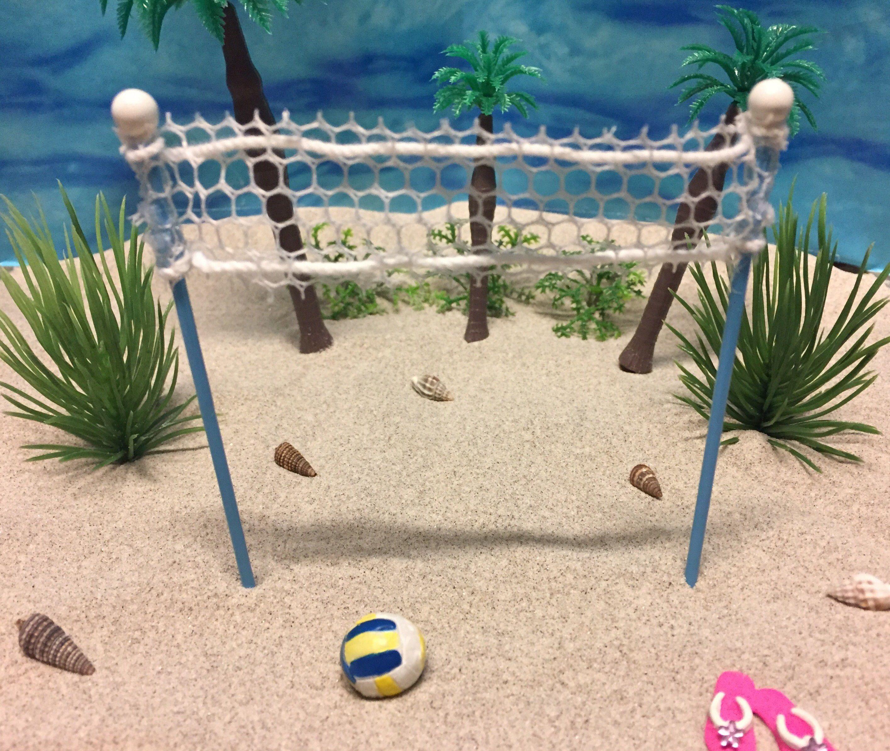 Miniature Volleyball Net Miniature Beach Beach Miniatures Beach