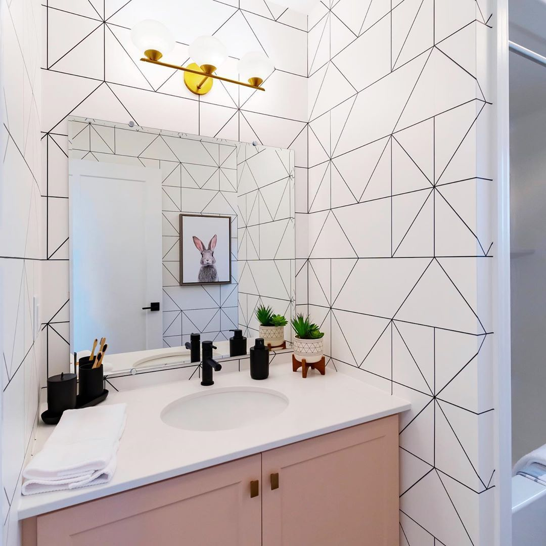 18 Gorgeous Ways To Use Wallpaper In Your Bathroom Powder Room Wallpaper Home Decor Bathroom Decor