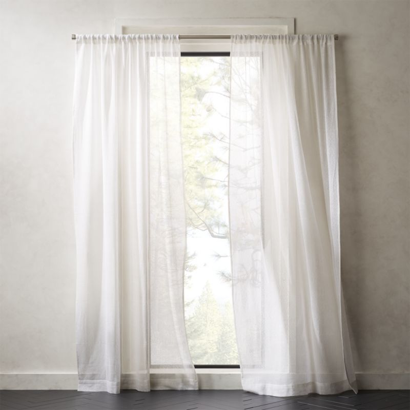 White Net Curtain Panel White Curtains Bedroom Window Treatments Bedroom Curtains Living Room