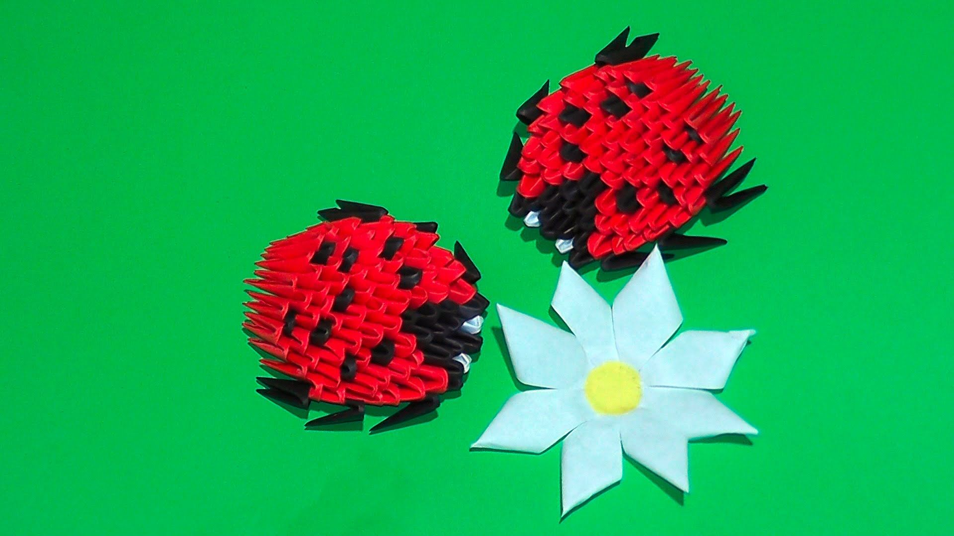 3D origami ladybug tutorial for beginners | * Origami ... - photo#38