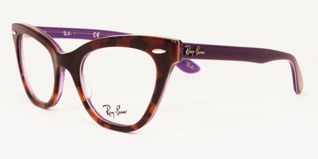 ea625afaaa54e Ray Ban Eyewear RX 5226 49 CATS EYE in Brown Lilac
