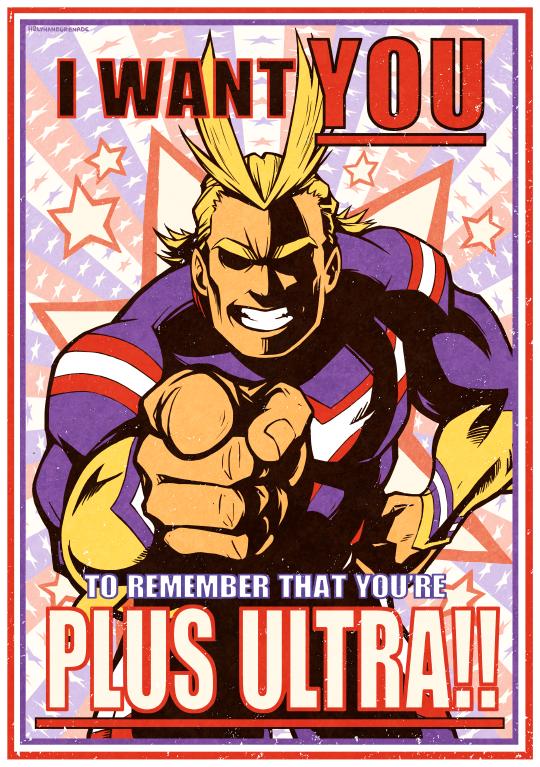 Plus Ultra Poster in 2020 Hero poster, My hero, My hero
