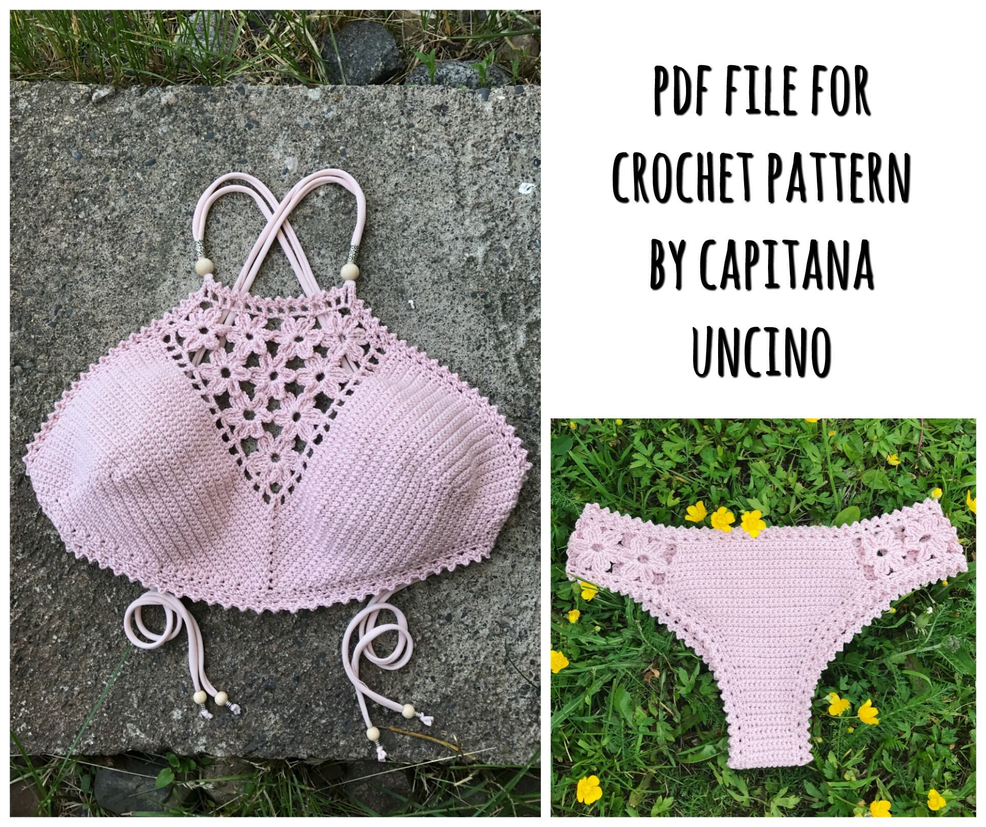 PDF-file for Crochet PATTERN, Coralia Crochet Crop Top and Brazilian ...