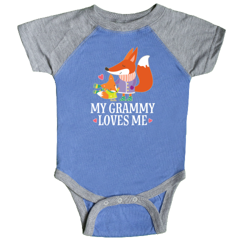 inktastic Dad Loves Me Cute Baby Fox Long Sleeve Creeper