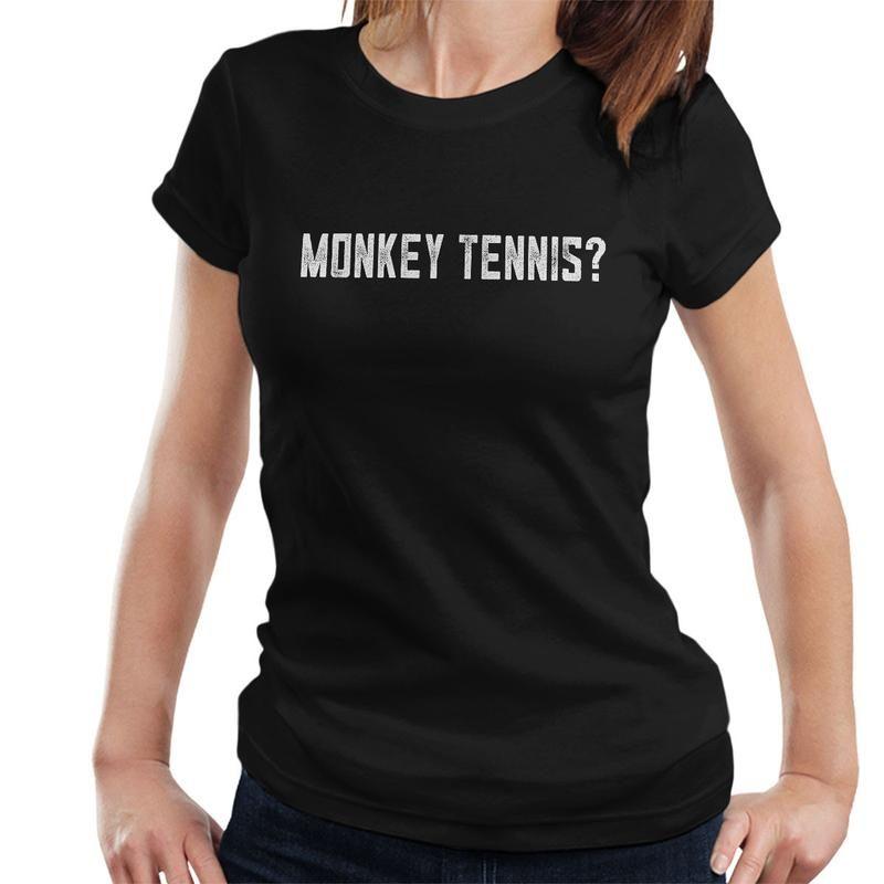 alan partridge monkey tennis women s t shirt