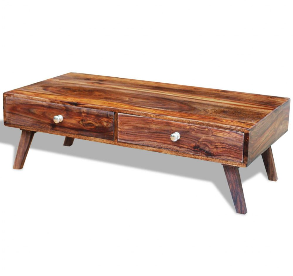 Solid Wood Coffee Table Vintage Living Room Furniture 4