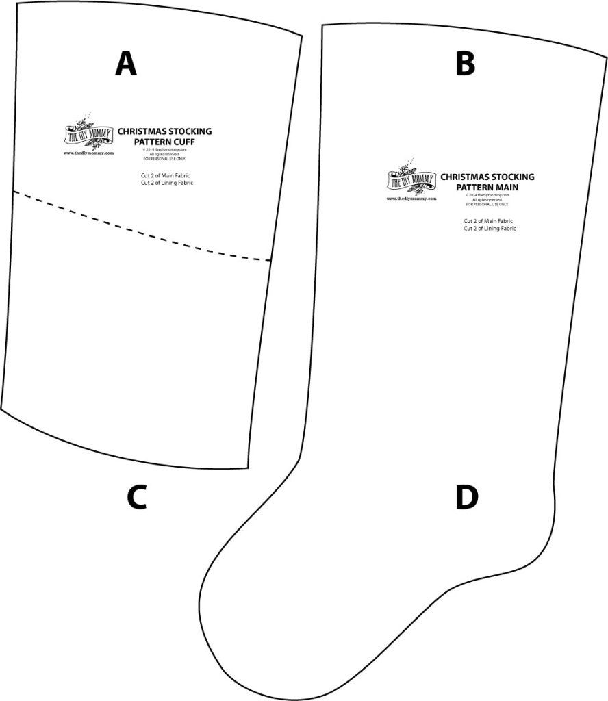diy stocking tutorial and free sewing pattern for christmas