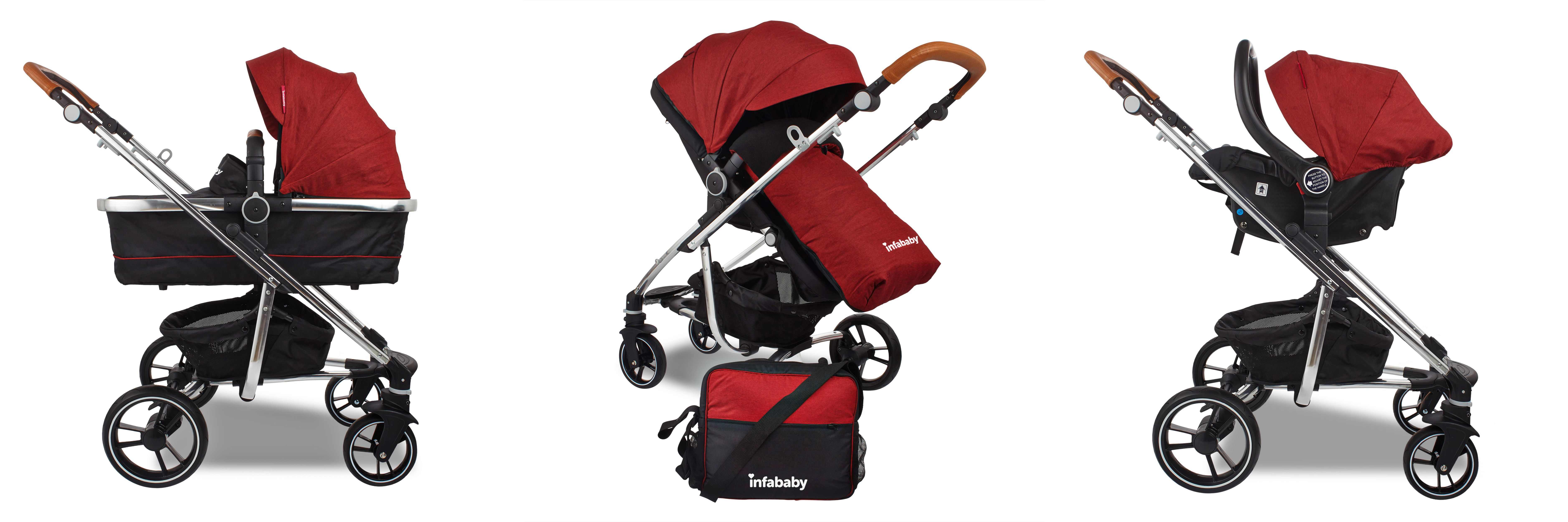 The Award Winning infababy MOTO 3 in 1 Travel System is a premium and fully