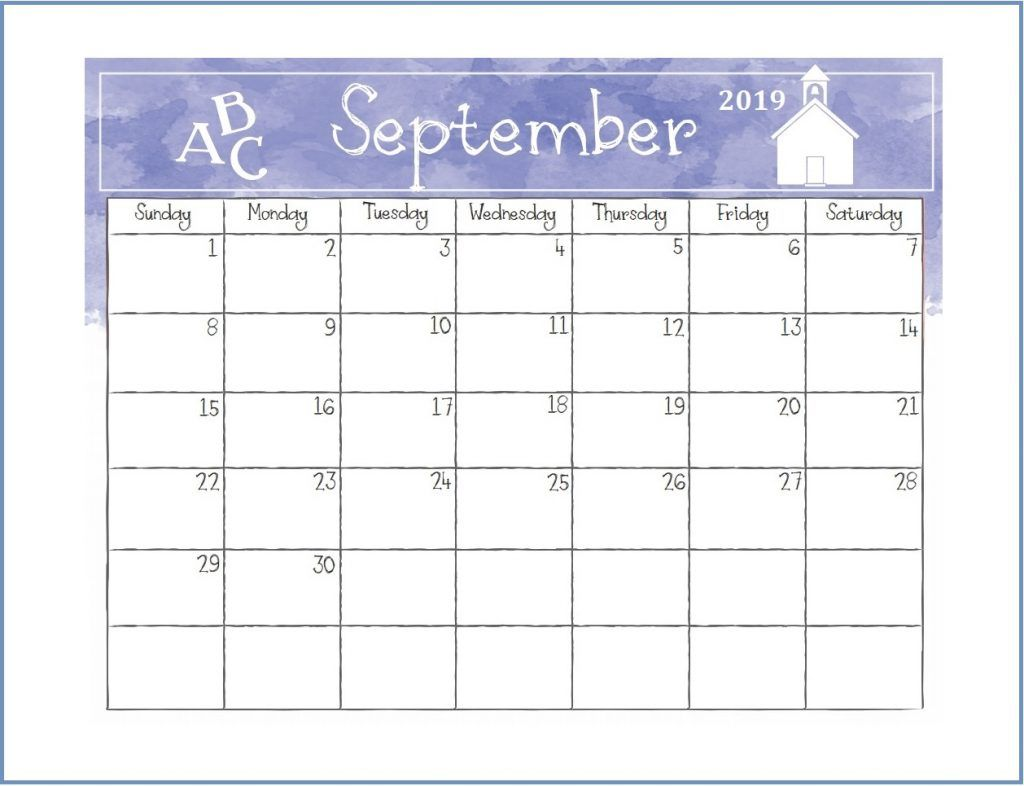 Printable September 2019 Desk Calendar Papelaria