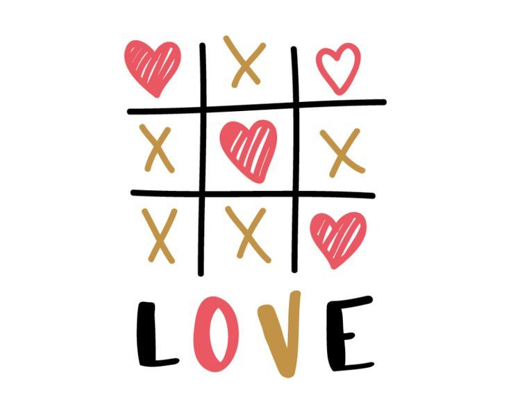 Free Svg Cut File  Love Tic Tac Toe  Svg Files    Tic