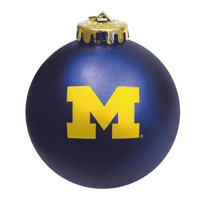 MCM University of Michigan Navy Block ''M'' Shatterproof Ornament (7546 -  $8.00). - MCM University Of Michigan Navy Block ''M'' Shatterproof Ornament