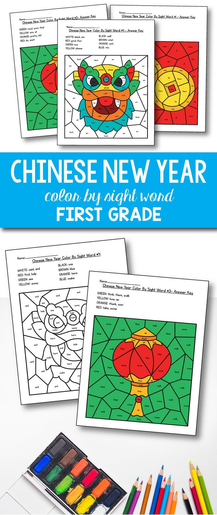 Chinese New Year Activities - Chinese New Year Coloring for 1st ...