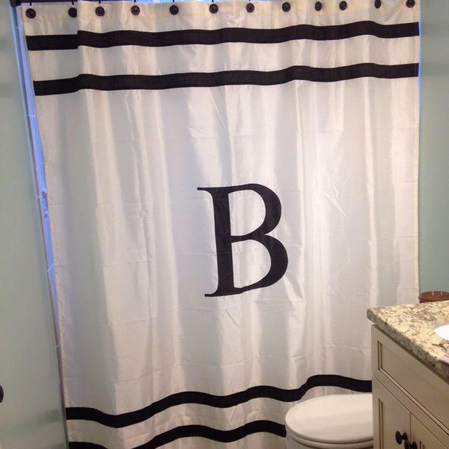 Love Our Monogram Shower Curtain!