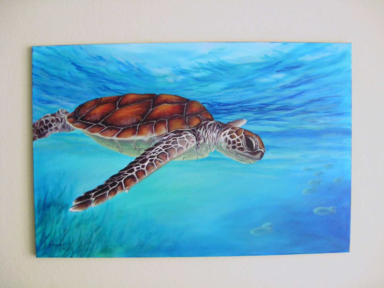 sea turtle acrylic Paintings