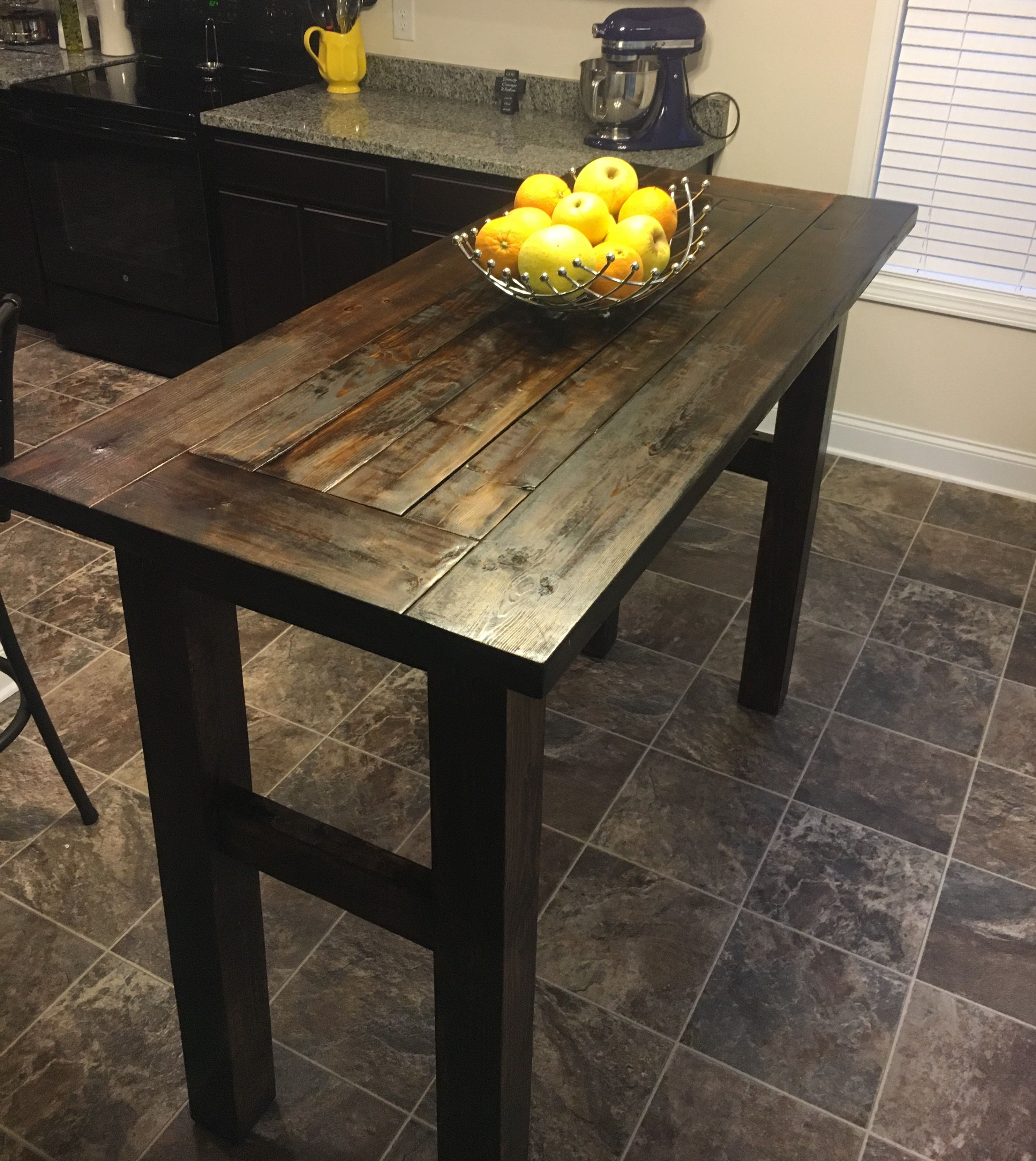 super simple pub table  43   high 60   long and 30   wide super simple pub table  43   high 60   long and 30   wide  using 2      rh   pinterest com
