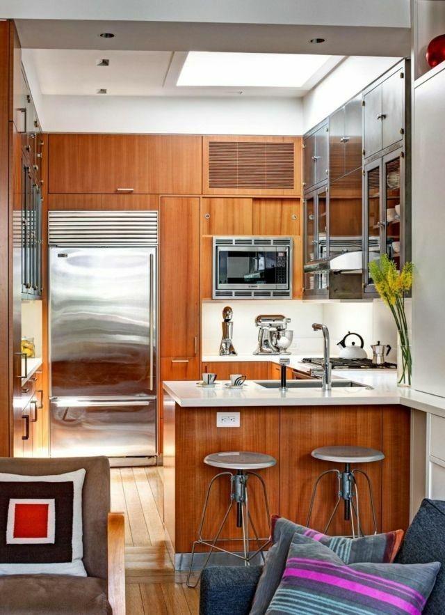 Dise o de cocinas peque as de madera casa pinterest - Disenos de cocinas para casas pequenas ...