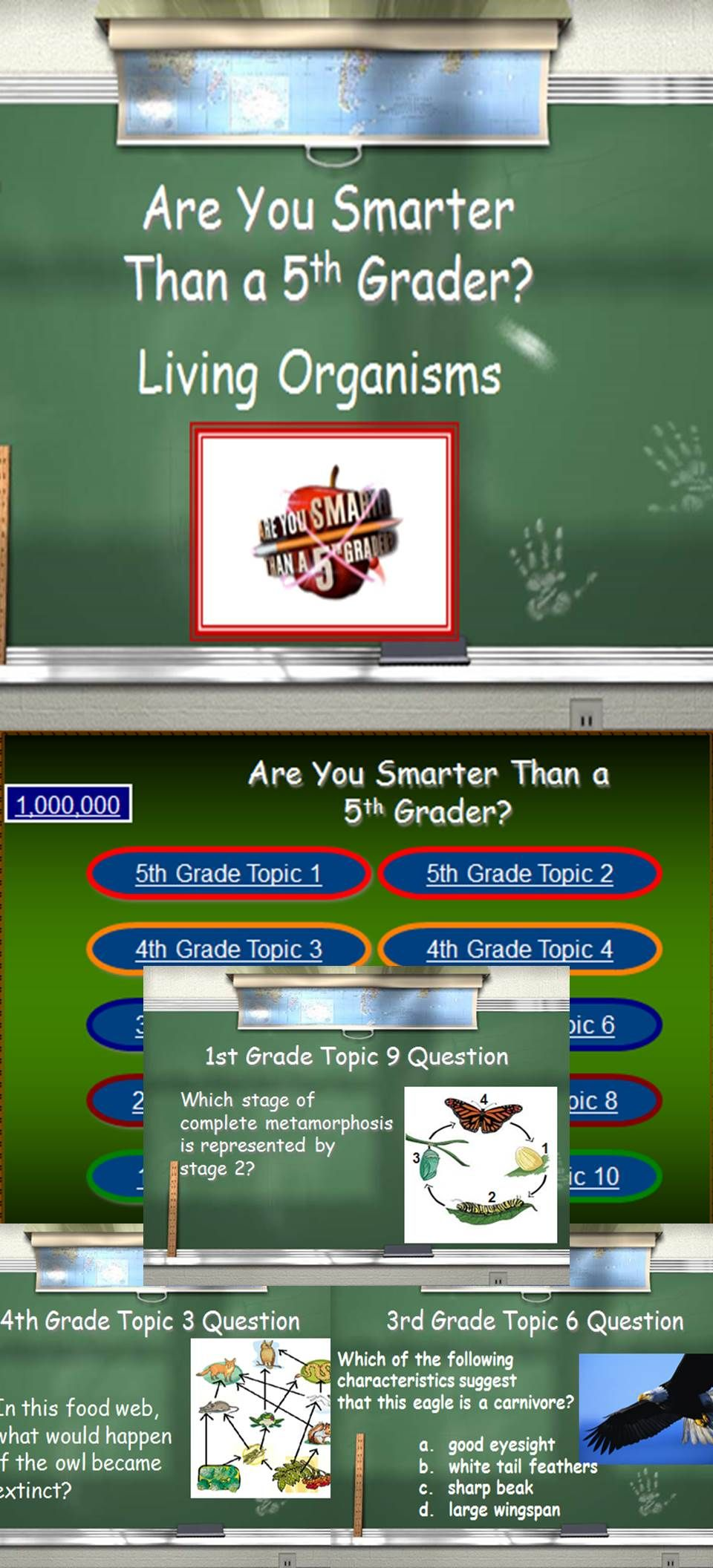 Living Organisms - Smart 5th Graders Review Game | Homeschool