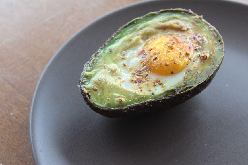 egg stuffed avocado.