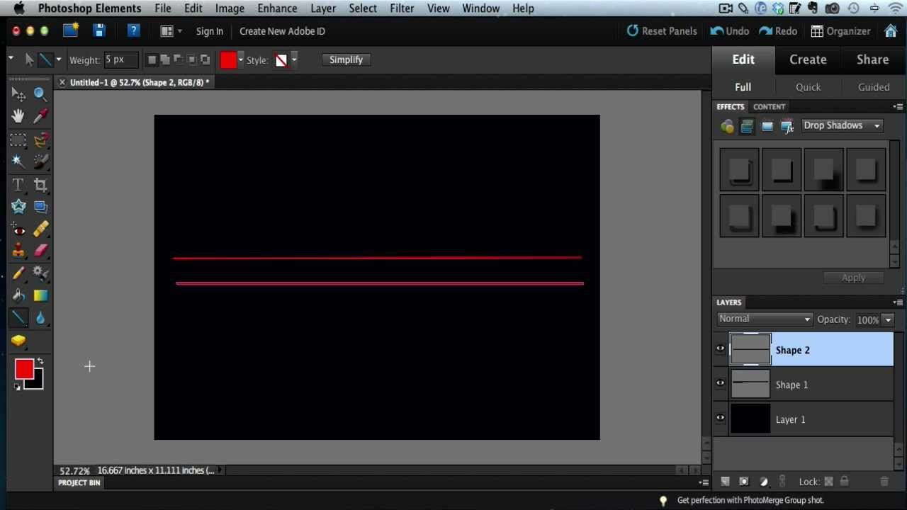The Trick To Creating Straight Lines In Photoshop Elements Photoshop Elements Photoshop Photoshop Tutorial