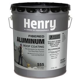 Henry Company Fibered Aluminum 4 75 Gallon Aluminum Reflective Roof Coating 7 Year Limited Warranty Lowes Com In 2020 Roof Coating Aluminum Roof Metal Roof Coating