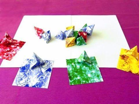Origami Blaetter , Origami Gemstone S Table Ideas 2017