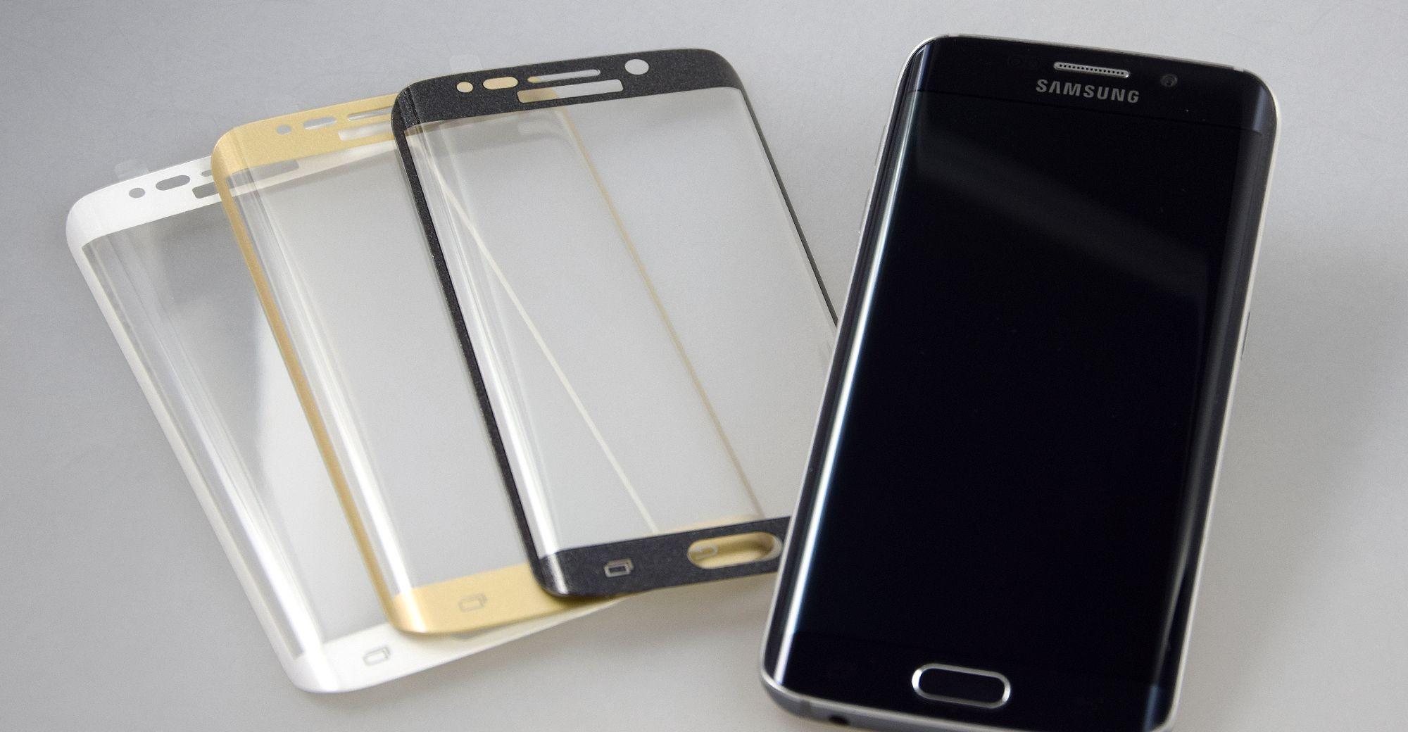 Glasschutzfolien für das Samsung Galaxy S6 Edge Plus in verschiedenen Farben von PhoneNatic