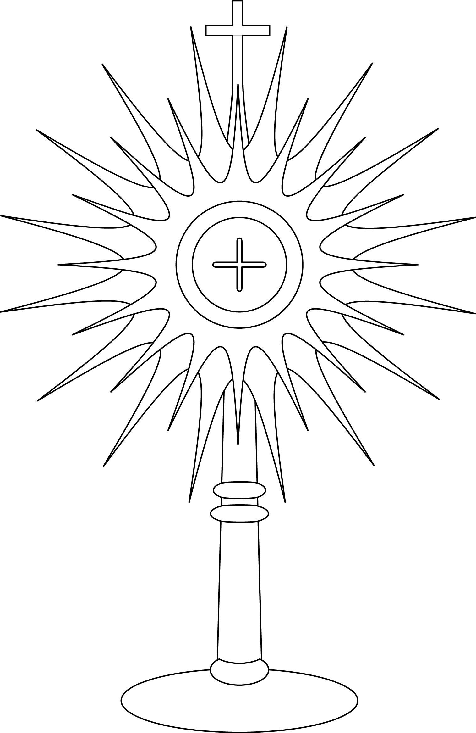 Monstrance Coloring Page