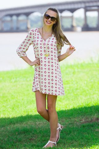 Play By Play Dress-Berry/Cream – Simply Dixie Boutique