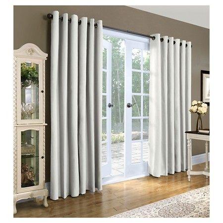 grommet top curtains sliding door