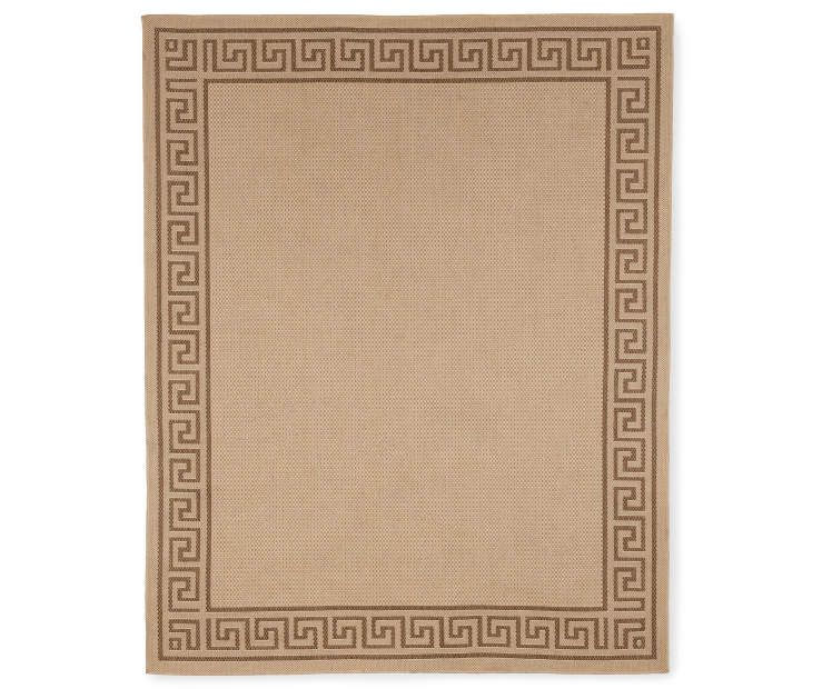 buy a greek key beige brown patio rugs at big lots for less