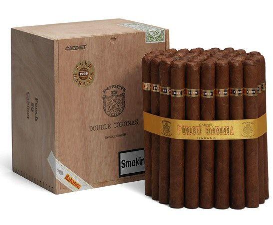 Punch Double Coronas Cigars Cabinet Of 50 Cigars Cuban Cigars Cigar Punch