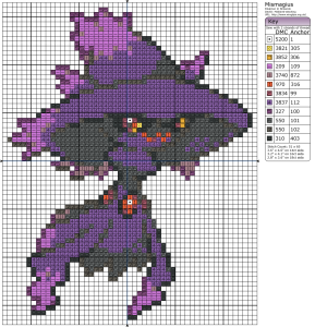 Today's ghost pokémon is mismagius. I always thought it was kind of cute, I love the little hat. But then I read about it. It can put you to sleep, cause hallucinations, headaches and its cries sound like incantations or chanting. Creeeepy.